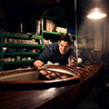 André, building beautiful wood kayaks